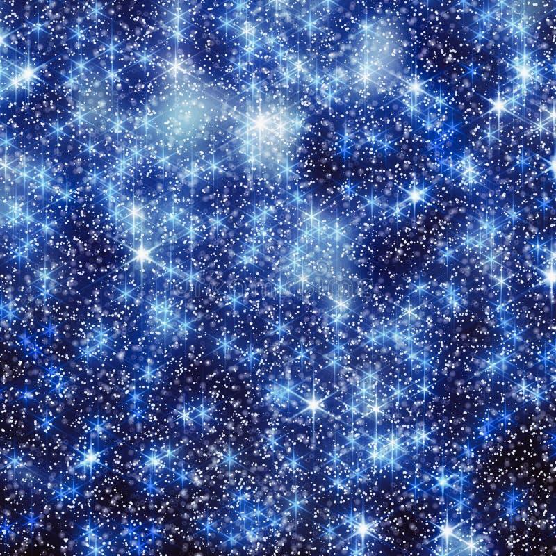 funkelnde Sterne im Hintergrund des nächtlichen Himmels für Social Media stock abbildung