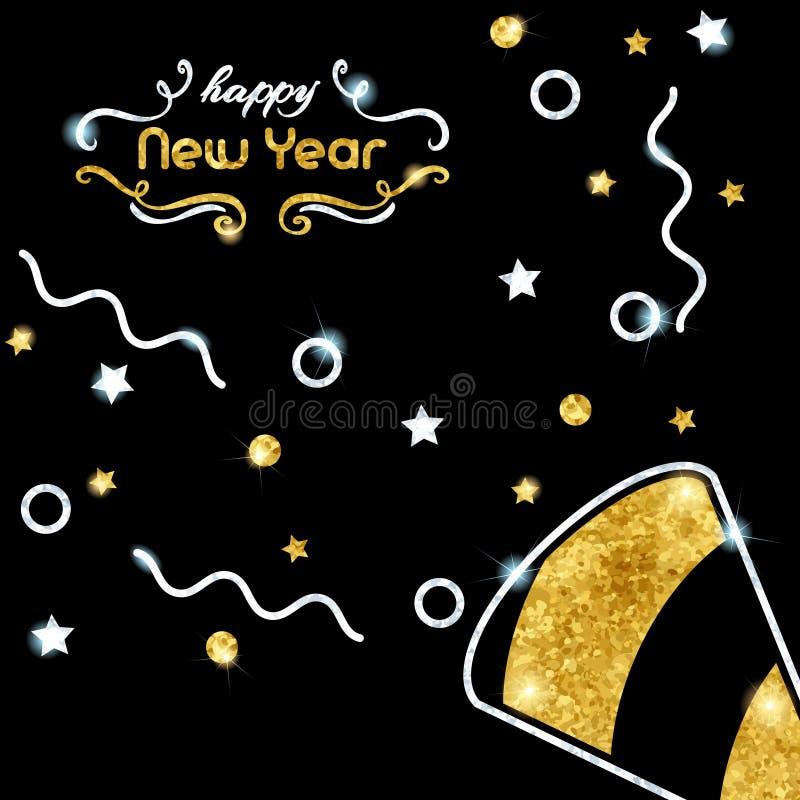Funkelnder neues Jahr ` s Eve Hintergrund lizenzfreie abbildung