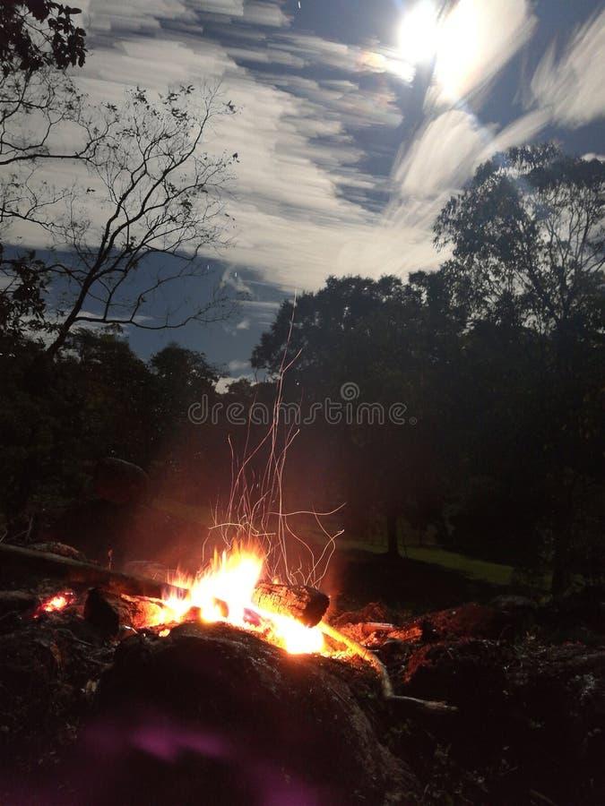 Funkelndes Feuer stockbilder