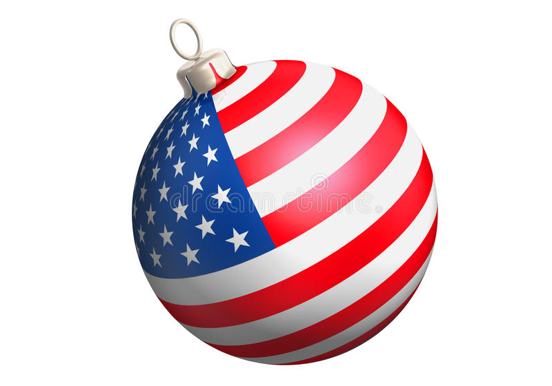 Funkelnkugel-USA-Markierungsfahne lizenzfreie abbildung