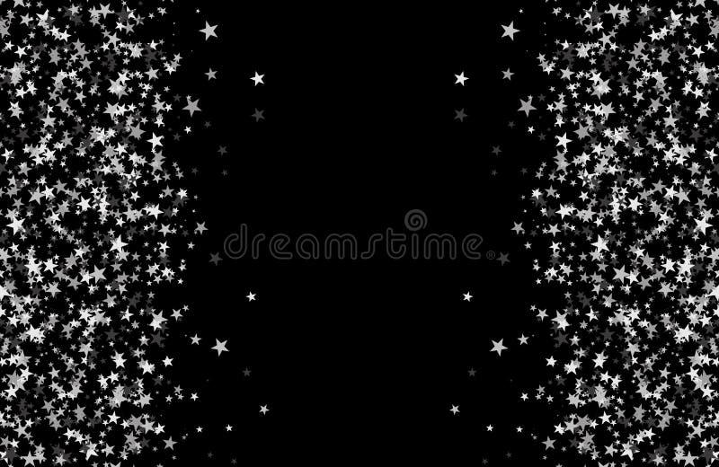 Funkelnmuster gemacht von den Sternen stock abbildung