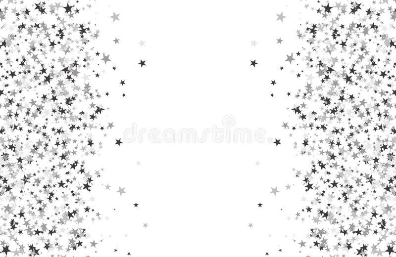 Funkelnmuster gemacht von den Sternen lizenzfreie abbildung