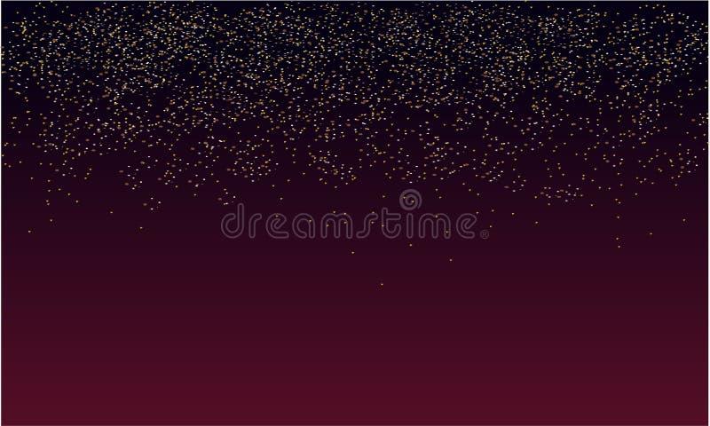 Funkelnregenhintergrund mit purpurroter Dunkelheit stock abbildung