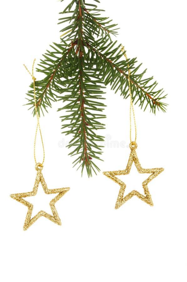 Funkelnsterne im Weihnachtsbaum lizenzfreie stockbilder