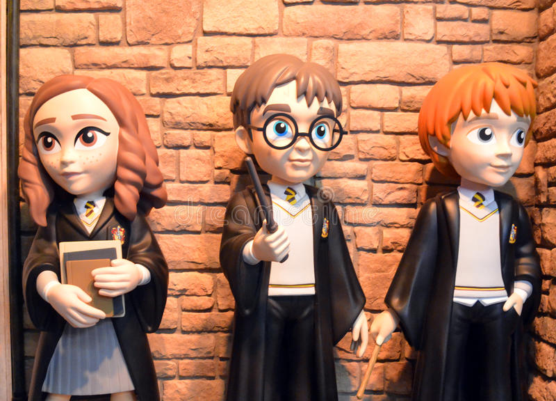Funko Harry Potter, Hermione Granger και Ron Weasley στοκ εικόνα με δικαίωμα ελεύθερης χρήσης