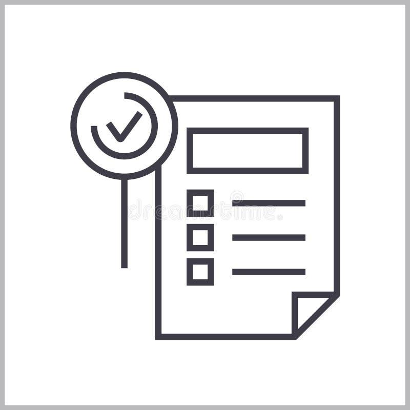 Funktionen bedecken lineare Ikone, Zeichen, Symbol, Vektor auf lokalisiertem Hintergrund stock abbildung