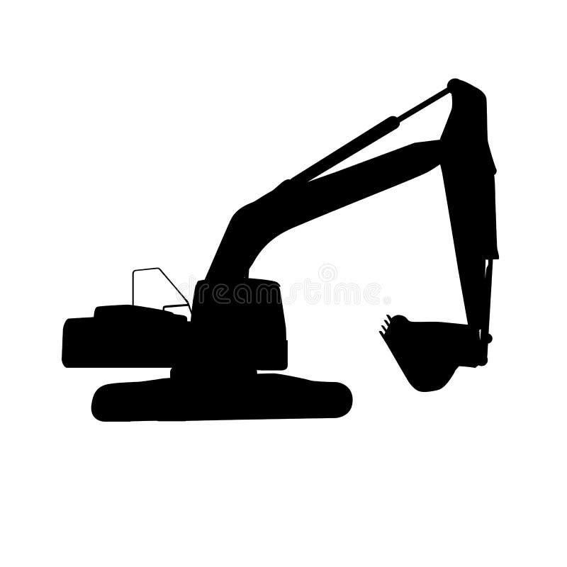 Funktionsduglig grävskopa vektor illustrationer