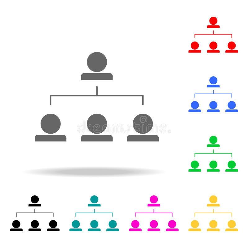 funktionsduglig hierarkisymbol Beståndsdelar av mång- kulöra symboler för teamwork Högvärdig kvalitets- symbol för grafisk design stock illustrationer