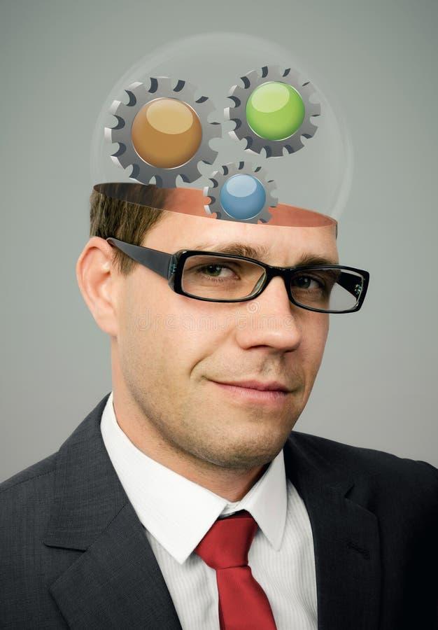 Funktionsduglig hjärna royaltyfria bilder