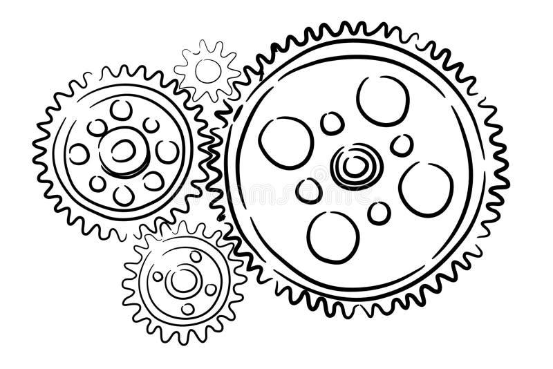 Funktionsduglig mekanism arkivfoton