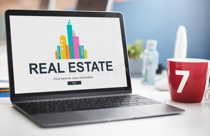 Funktionsdugligt begrepp för Real Estate egenskap royaltyfri foto