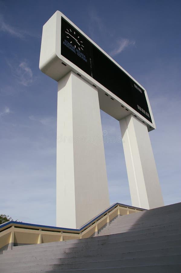 Funktionskort Sultan Hassanal Bolkiah Stadium, Brune royaltyfri bild