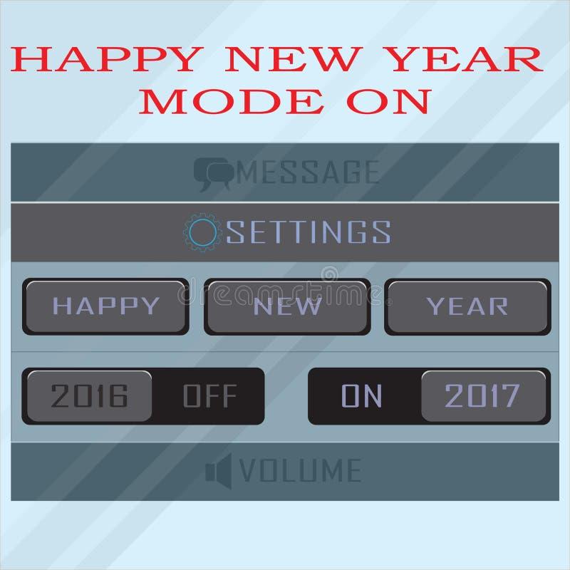 Funktionsläge 2017 för lyckligt nytt år på royaltyfria bilder