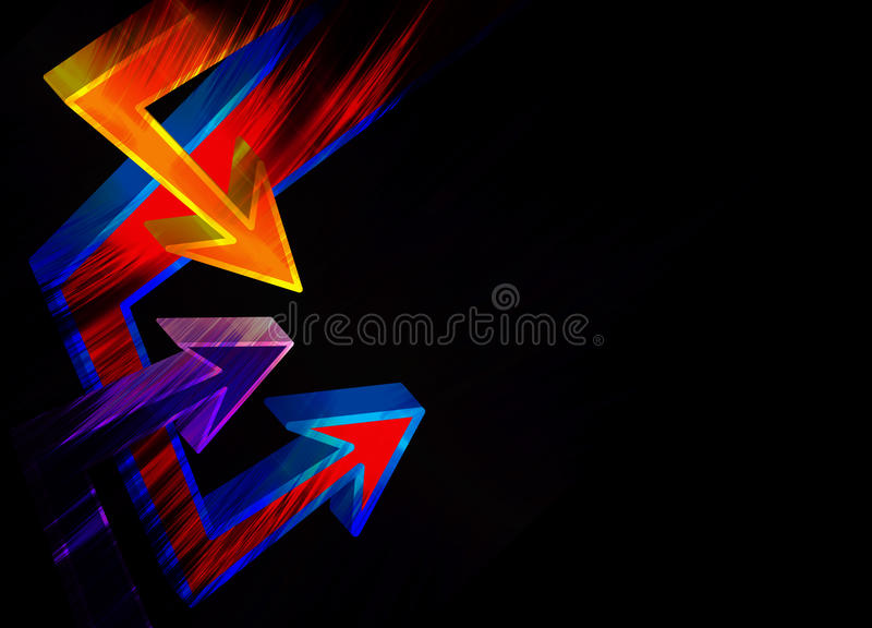 Funky 3D Arrows Layout vector illustration