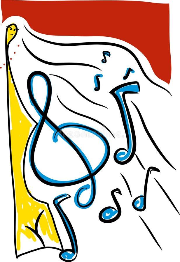 Funky Achtergrond van de Muziek stock illustratie