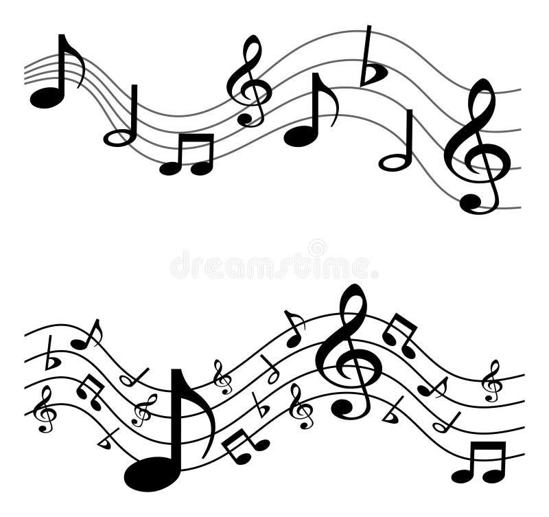 Funky Achtergrond van de Muziek royalty-vrije illustratie
