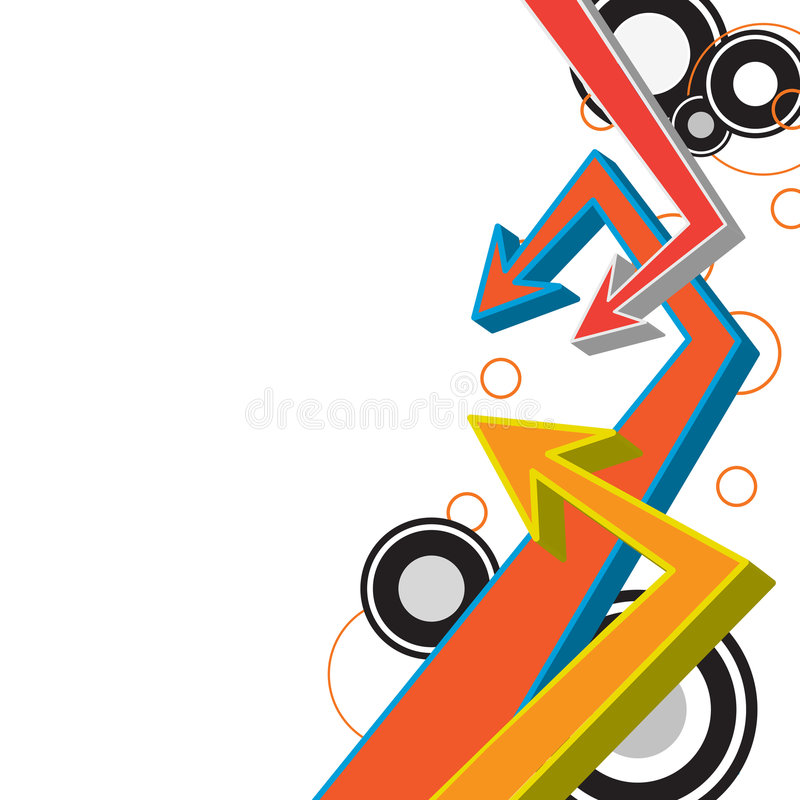 Funky Arrows Layout stock illustration