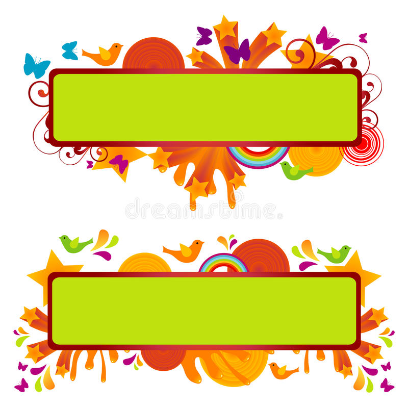 Download Funky Banners stock vector. Illustration of curled, line - 10106826