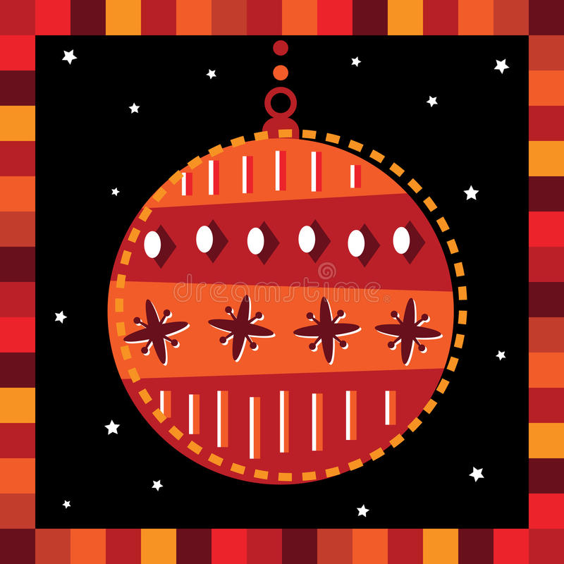 Funky Bauble Greeting Card Stock Photos