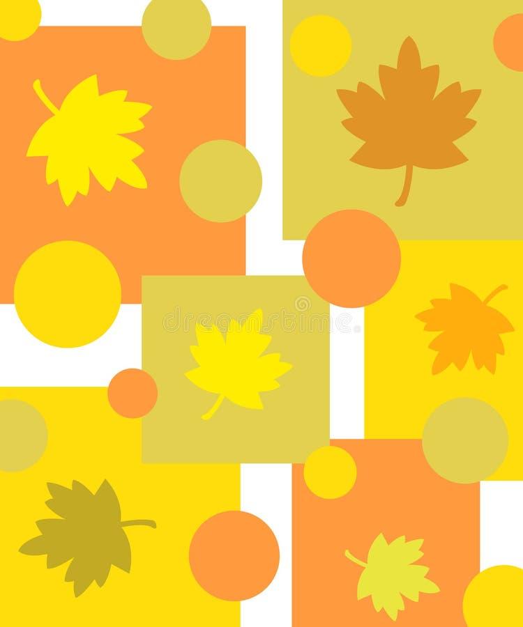 Funky bladerenontwerp stock illustratie