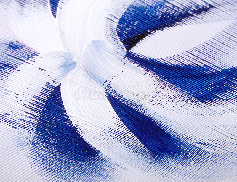 Funky blauwe bloem royalty-vrije illustratie