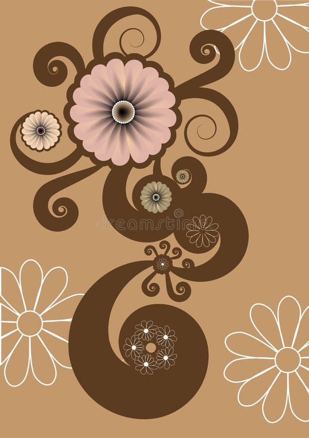 Funky bloemen vector illustratie