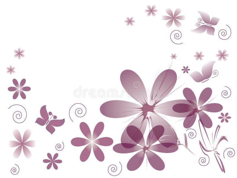 Funky bloemen. stock illustratie