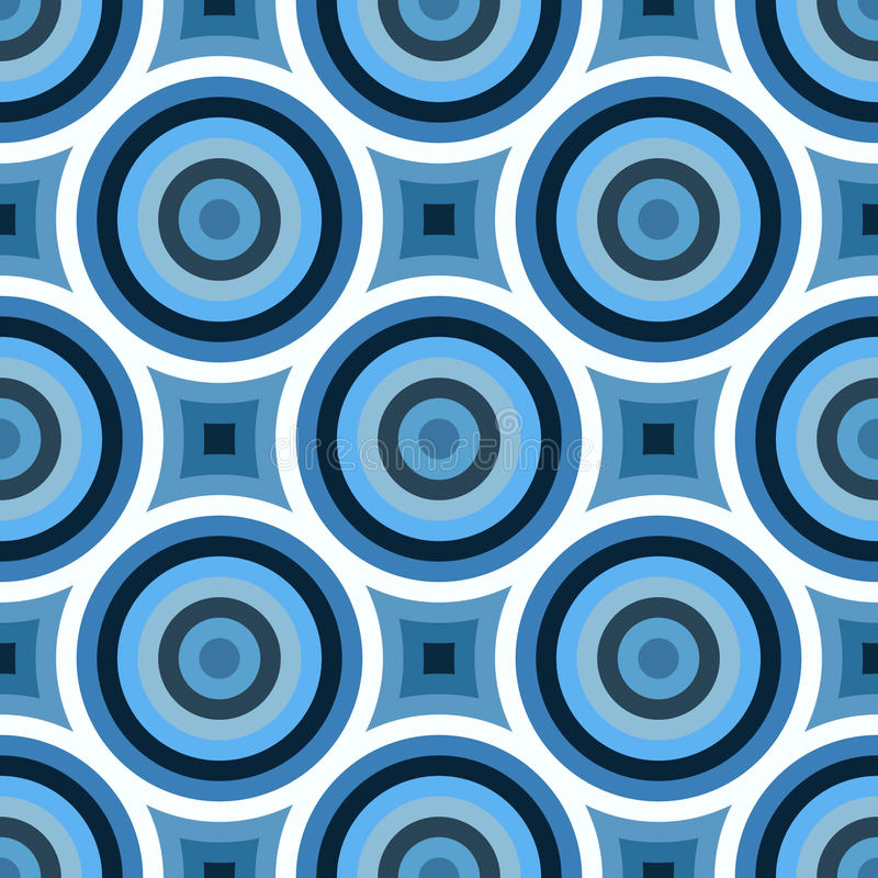 Funky Blue Circles Pattern royalty free illustration