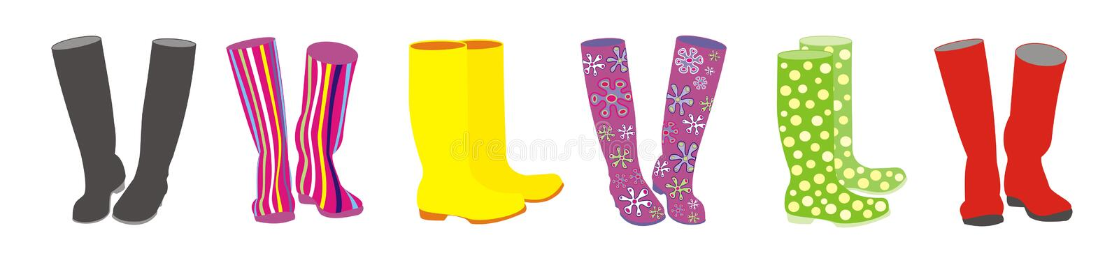 Funky boots vector illustration