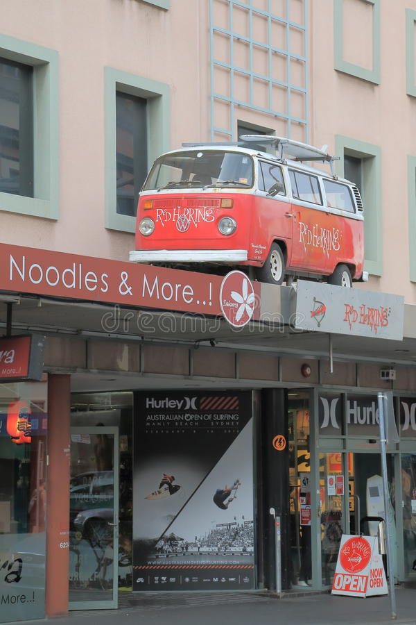Funky brandingswinkel Hobart stock foto