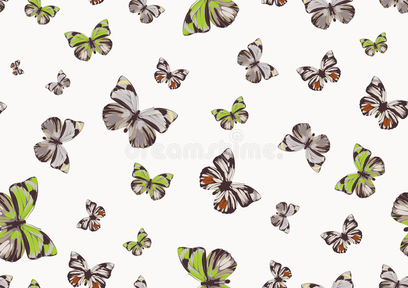 Download Funky butterflies stock vector. Image of elegance, fashioned - 6843586