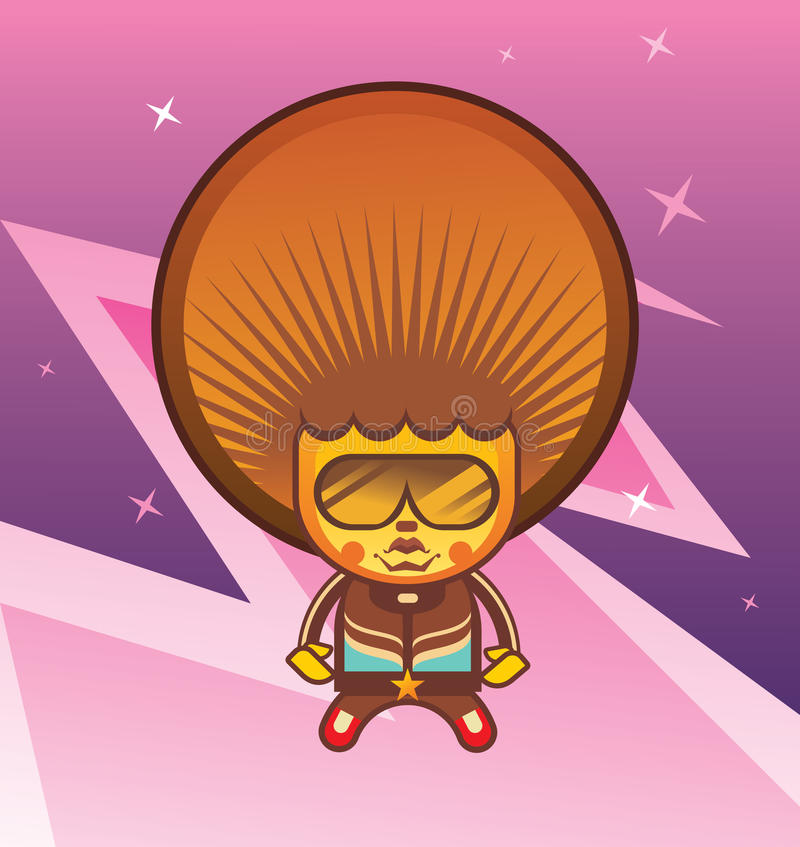 Funky character vector illustration