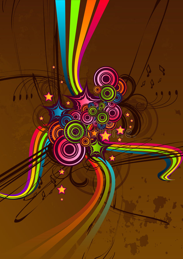 Funky Chocolate Abstract stock illustration