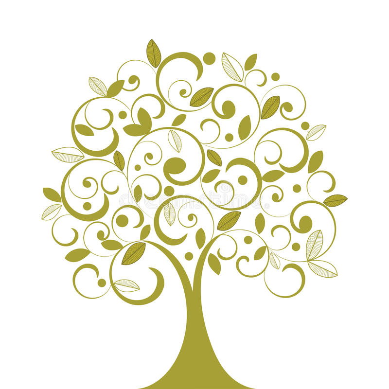 Download Funky Coil Tree stock vector. Image of creativity, green - 15700454