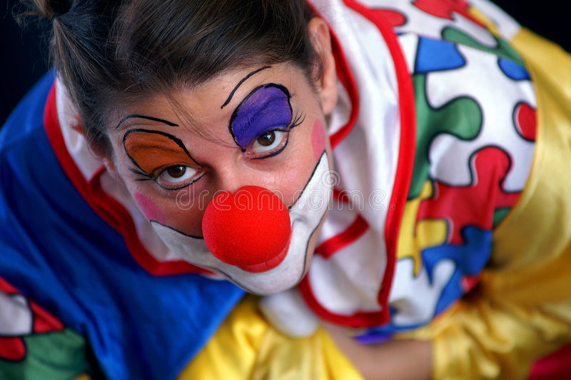 Funky colorful clown stock images