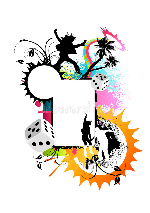 Funky Colourful Frame royalty free illustration