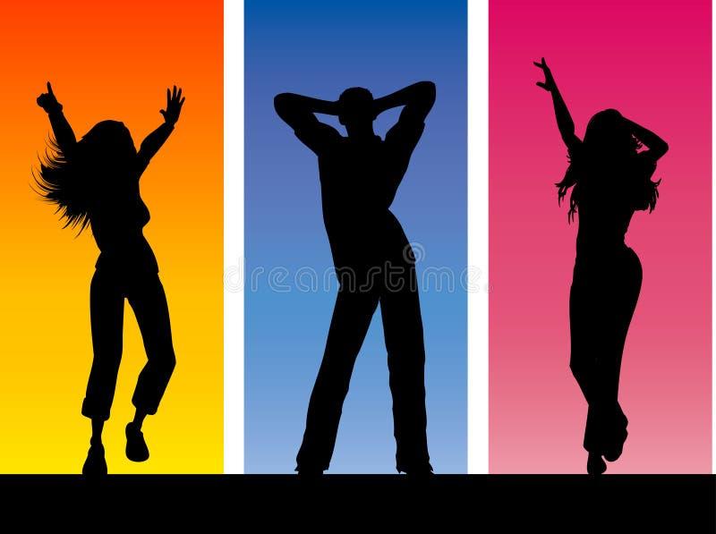 Funky dansers royalty-vrije illustratie