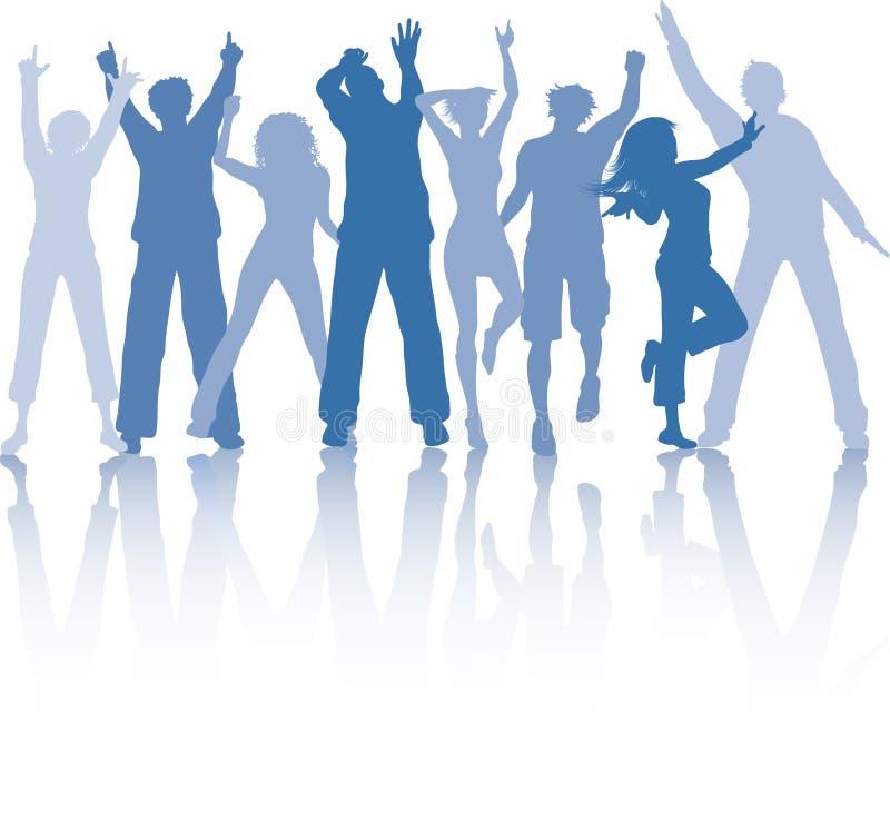 Funky dansers stock illustratie