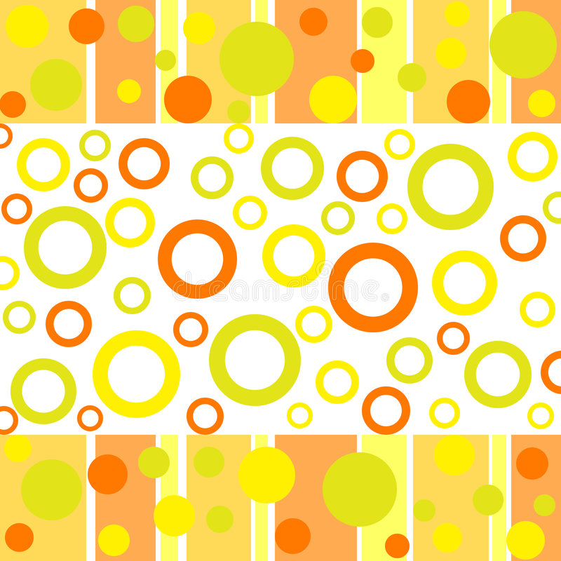 Funky dots and circles. Funky autumn colored dots and circles stock illustration