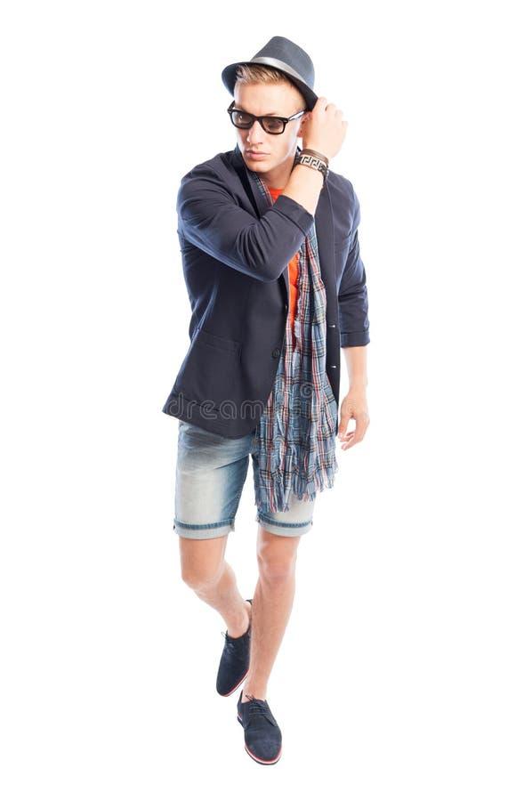 Funky, elegante ma inoltre l'estate maschio casuale copre fotografia stock libera da diritti