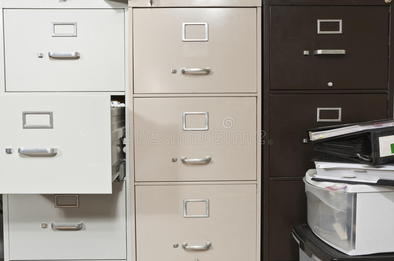 Download Funky File Cabinets Stock Image. Image Of Untidy, Drawer   19145337