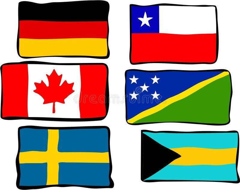 Funky Flags stock illustration