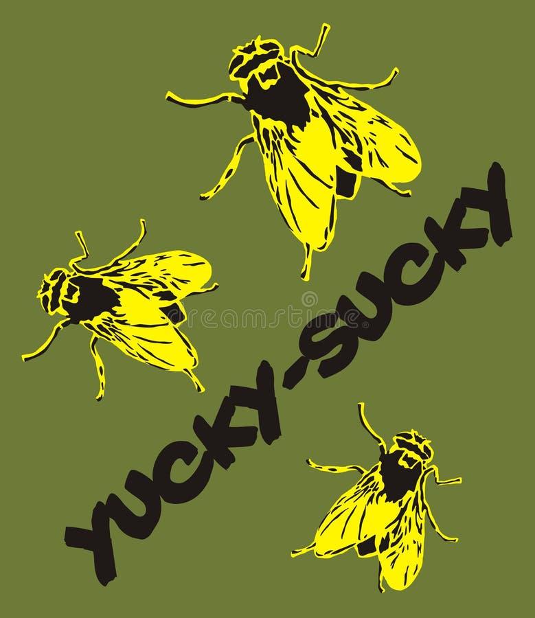 Funky Flies stock illustration