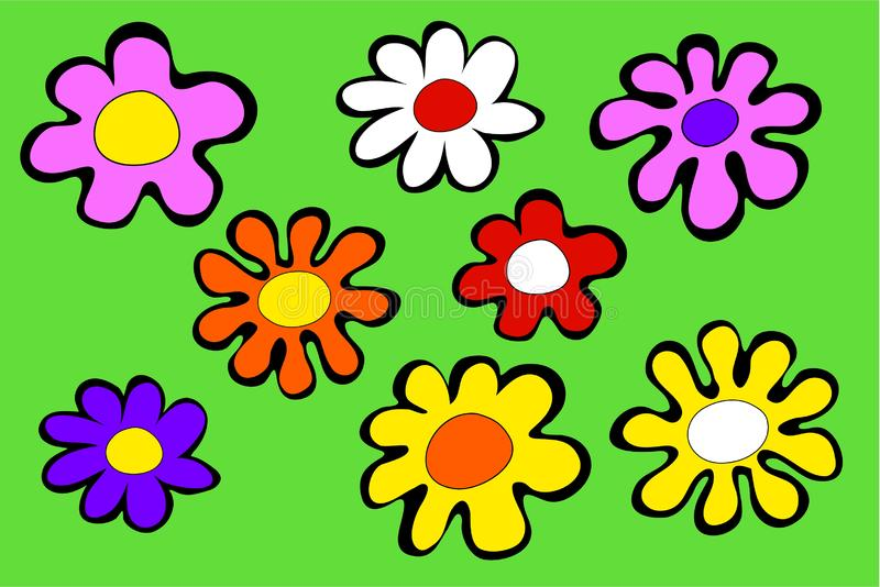 Funky Flowers Free Stock Images