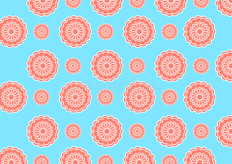 Funky flowers. Vector illustration of funky flowers abstract pattern vector illustration