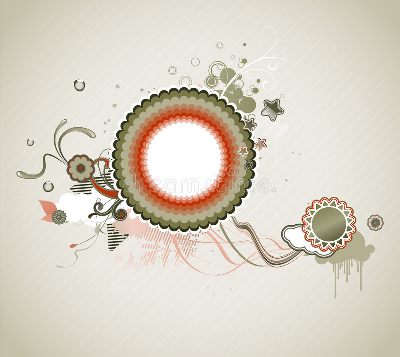 Funky frame vector illustratie