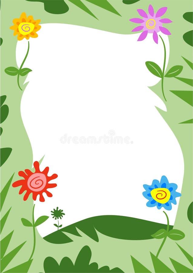 Funky Frame van Bloemen stock illustratie