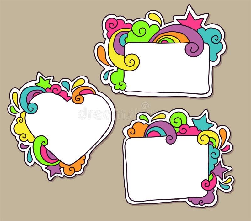 Download Funky frames stock illustration. Image of scrapbook, bright - 38073724