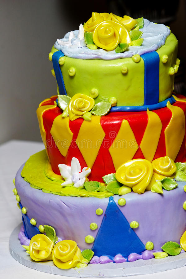 Download Funky and fun wedding cake stock image. Image of food - 24025023