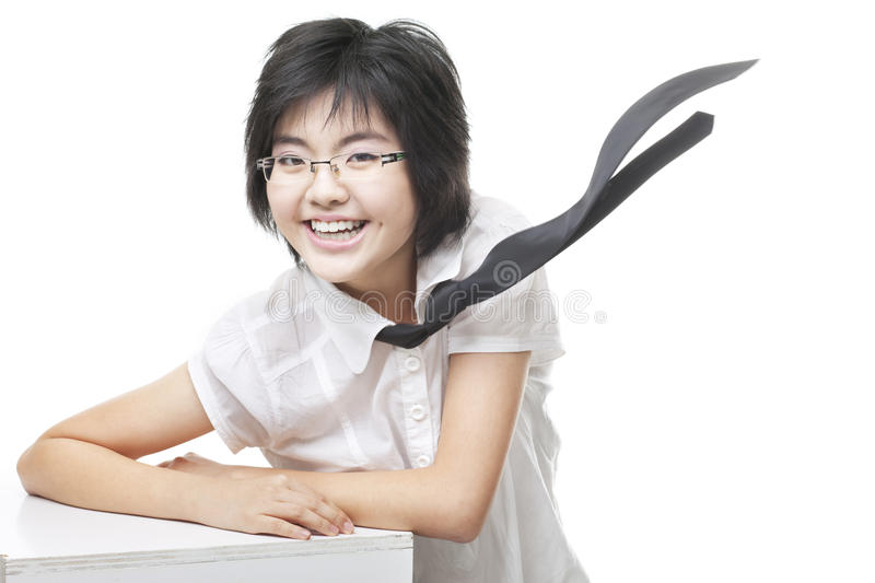 Funky, Geeky Bespectacled Girl With Toothy Smile Stock Photography